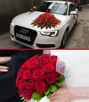 Hoa cầm tay cô dâu đẹp | xe hoa cưới hoa hồng đỏ