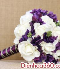 Nên đặt hoa cưới cho cô dâu và trang trí xe cô dâu ở đâu đẹp?