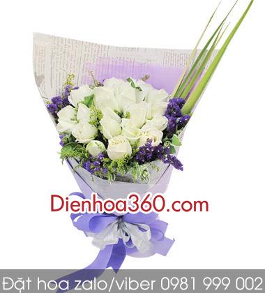 hoa sinh nhat, hoa hong trang
