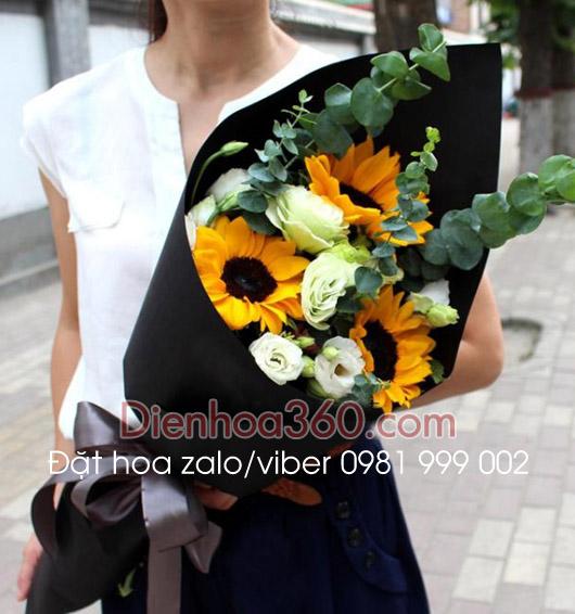 Hoa tặng sinh nhật | hoa hướng dương | hoa lan tường