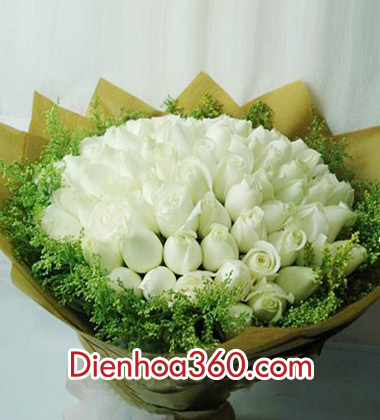 mau hoa sinh nhat, hoa hong trang