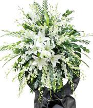 Hoa viếng đám tang | vòng hoa tang lễ hoa ly