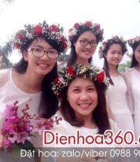 Cách làm vòng hoa đội đầu – vòng hoa đeo cổ