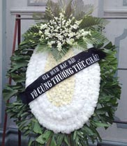 Vòng hoa chia buồn trắng | hoa đám tang