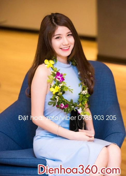 Vòng hoa đeo cổ đẹp | vòng hoa nguyệt quế
