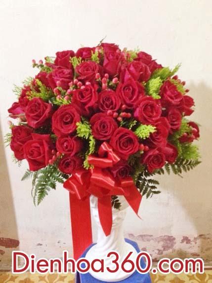 Bình hoa tặng sinh nhật