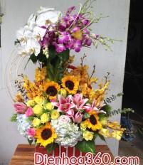 Tổng hợp giỏ hoa sinh nhật bạn đẹp không nên bỏ qua