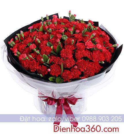 Hoa sinh nhật mẹ hoa cẩm chướng