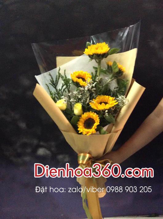 Hoa hướng dương, bó hoa đẹp
