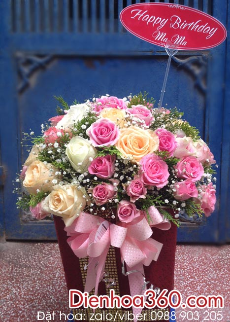 Mẫu hoa sinh nhật mẹ