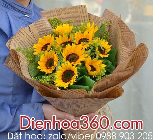 Hoa sinh nhật tặng bạn, hoa hướng dương
