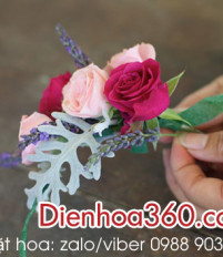 Cách làm vòng hoa đội đầu bằng hoa hồng