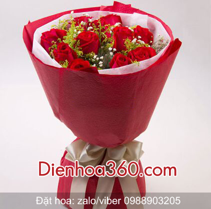 hoa chúc mừng sinh nhật, hoa hồng đỏ