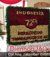 Lãng hoa chúc mừng quốc khánh Indonesia