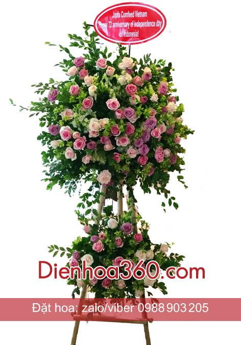 Lãng hoa đẹp chúc mừng   hoa hồng
