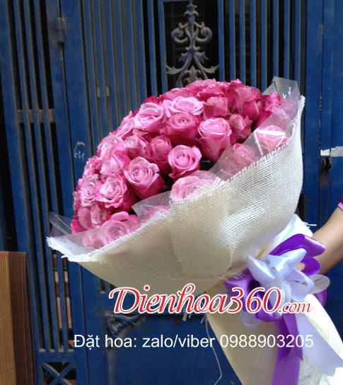 hoa hồng tím tặng người yêu