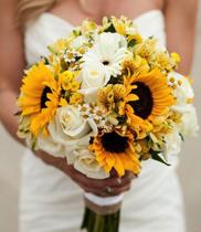 Mẫu hoa cưới đẹp hoa hướng dương