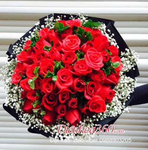 valentine 14-2 hoa hồng đỏ