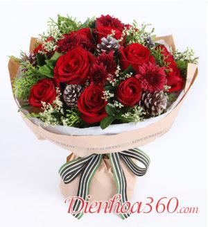 Hoa mừng ngày giáng sinh Merry Christmas