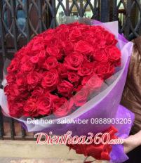 Những bó hoa hồng đỏ đẹp nhất tặng bạn gái ngày sinh nhật