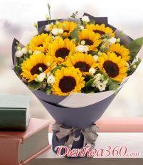 Bó hoa 10 bông hướng dương có nghĩa gì