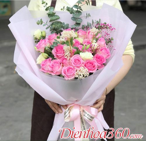 Bó hoa sinh nhật người yêu hoa hồng