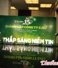 Hoa chúc mừng thành lập công ty CJSC 15 năm