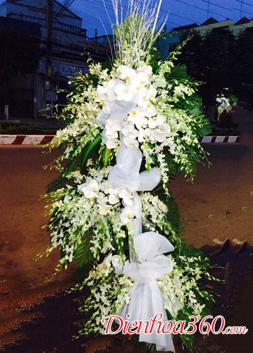 Hoa chia buồn màu trắng | hoa viếng