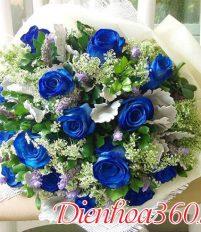 Cách tạo hoa hồng xanh, hoa hồng xanh đẹp, dịch vụ điện hoa toàn quốc, hoa tươi, shop hoa online