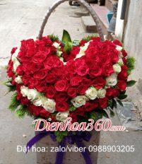 Top 10 Mẫu giỏ hoa hình tim đẹp tặng sinh nhật