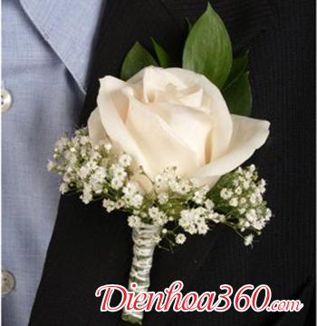 Mẫu hoa cài áo đại biểu hoa tươi