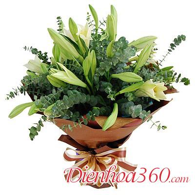 Bó hoa đẹp nhất thế giới hoa loa kèn