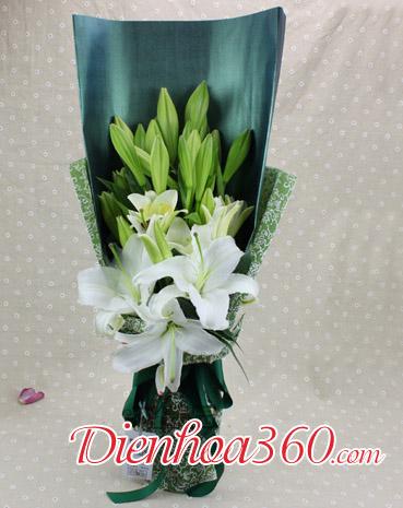Bó hoa loa kèn đẹp nhất, hoa loa kèn