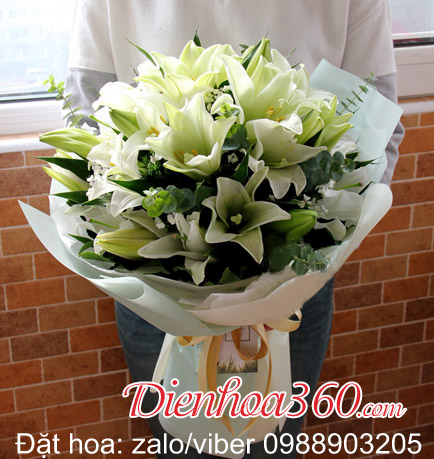 Bó hoa loa kèn đẹp tặng sinh nhật