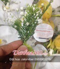 Cách làm hoa cài áo đại biểu | hướng dẫn làm hoa cài ngực là hoa địa lan và lan hồ điệp