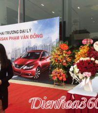Tưng bừng khai trương đại lý ô tô nissan 26 Phạm Văn Đồng với những lãng hoa chúc mừng đẹp