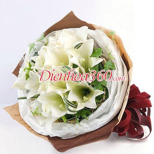 Hoa loa kèn mẫu hoa sinh nhật