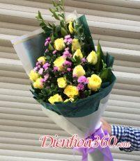 Tổng hợp những mẫu hoa sinh nhật màu vàng