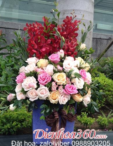 Tặng hoa sinh nhật bố mẹ