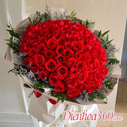 Top 10 mẫu bó hoa 99 bông hồng đẹp nhất thế giới