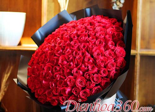99 bó hoa hồng đỏ