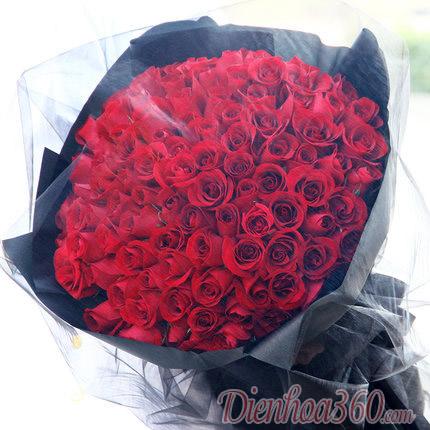 Bó hoa 99 bông hồng đỏ