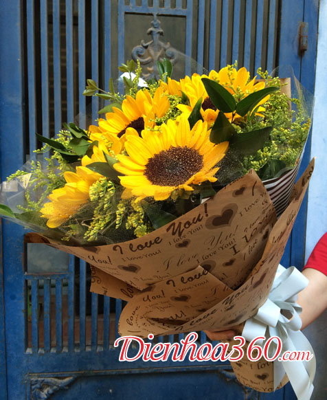 Hoa tặng đại biểu đẹp, hoa hướng dương