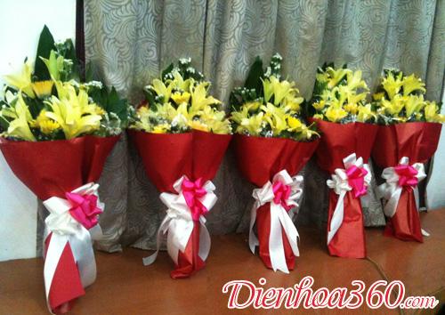 Hoa tặng hội nghị đại biểu | hoa ly