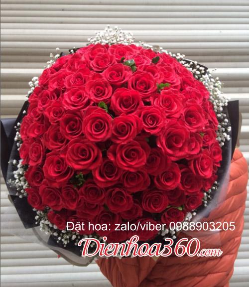 Mẫu bó 99 bông hồng đẹp