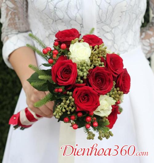 Mẫu hoa cầm tay cô dâu đẹp