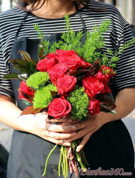 Mẫu hoa cưới hoa hồng đẹp