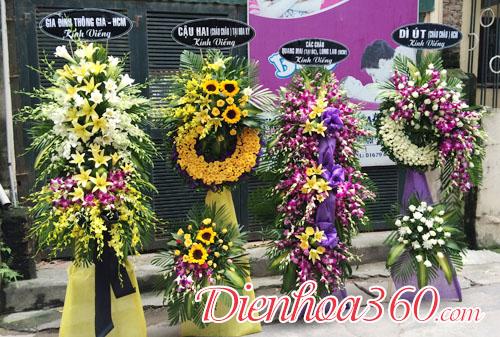 Đặt hoa tang lễ nhà tang lễ cầu giấy trấn vỹ