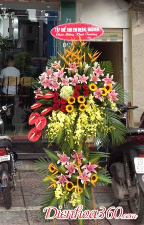 Mẫu hoa tặng nhà báo