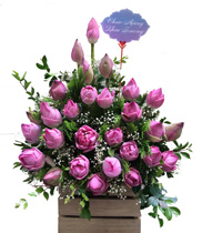 Giỏ hoa sen tặng sinh nhật